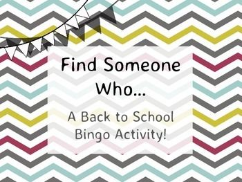 """This is a welcome-to-our-class bingo activity that I have been using for a few years. More exciting than your standard """"Find someone with brown hair"""" questions, these ones ask you to act things out, sing songs, etc... as well as calmer questions for the more shy students."""