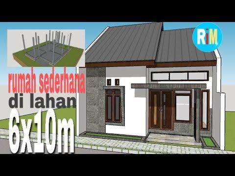 Rumah Sederhana Di Lahan 6x10 - YouTube Di 2020 | Rumah, Rumah Minimalis,  Denah Lantai Rumah