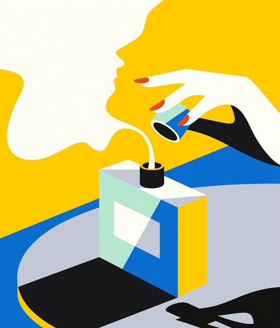 i am designer: Потрясающие плоские иллюстрации