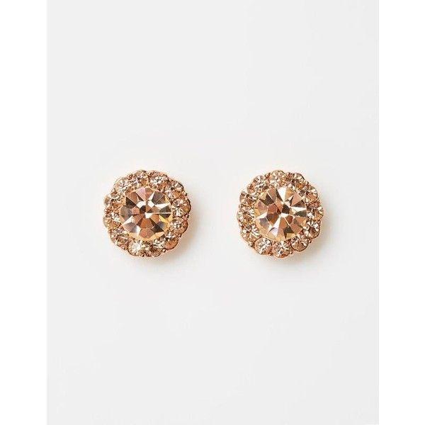 Izoa rosie stud rose gold peach ($66) ❤ liked on Polyvore featuring jewelry, earrings, nickel free earrings, monarch butterfly earrings, 18 karat gold stud earrings, round earrings and 18k earrings