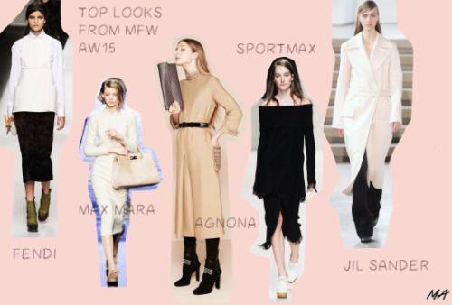 My five favorite looks from Milan Fashion Week aw15FENDI, MAX MARA, AGNONA, SPORTMAX, JIL SANDER