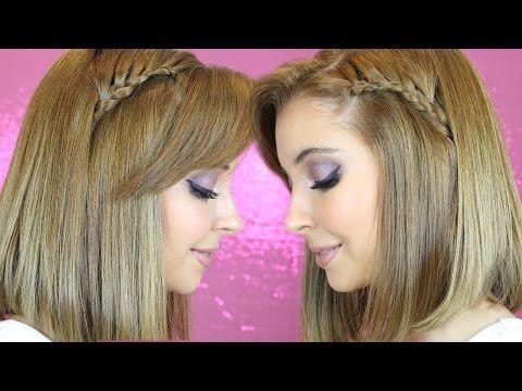 Peinado: Trenzas en cabello corto/mediano - YouTube