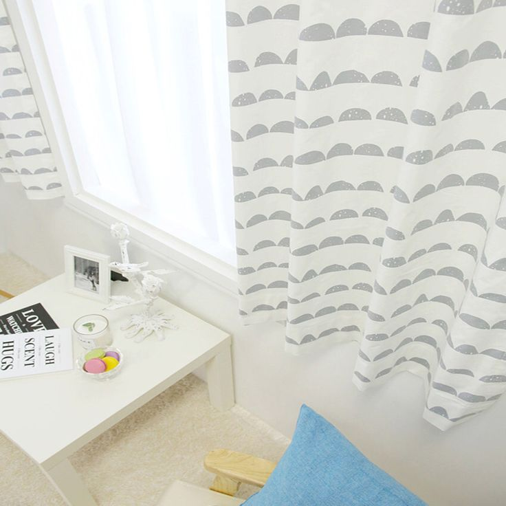 Cute Cloud Printed White Curtain Kids Curtains 100% Cotton Drapery Panel 1Pair for Living Room and Bedroom by enapremium on Etsy https://www.etsy.com/listing/246662239/cute-cloud-printed-white-curtain-kids