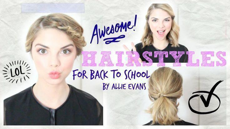 Coiffures de rentrée scolaire rapides et faciles⎟Allie Evans #allie #easy #evans #hairstyle #hairstyles -