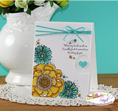 Hi Stampers, my share today is the Stampin Up Bloom with Hope and Blendies Update. I spent the weekend working on the June Online Stamping class and I'm using my favorite new stamp set from the new St