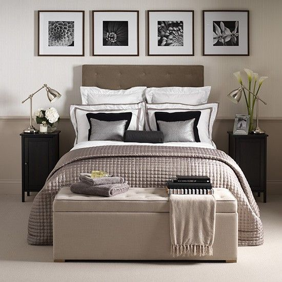 Glamorous hotel-chic bedroom | How to decorate with neutrals | PHOTO GALLERY | Ideal Home | Housetohome.co.uk