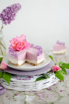 Cheesecake vegano de vainilla y frambuesa