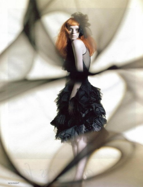 "Karen Elson by Nick Knight in ""Sculpture Class"" for Vogue UK, October 2008"
