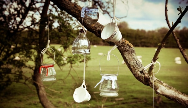 Hanging teacups...