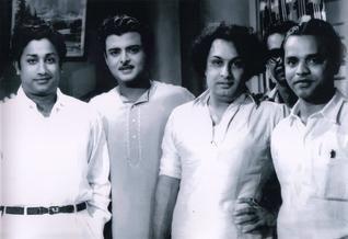 'Sivaji' Ganesan, 'Gemini' Ganesan, M. G. Ramachandran and Bhim Singh