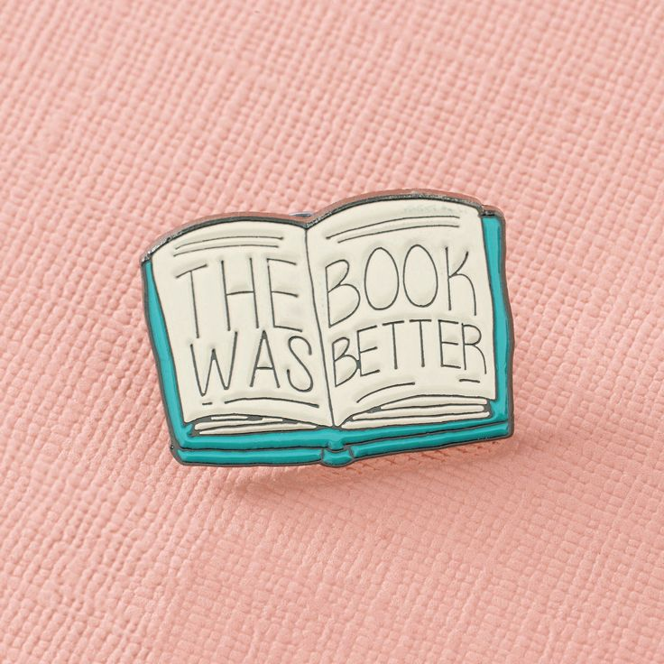 The Book was Better // The perfect enamel lapel pin for a bibliophile