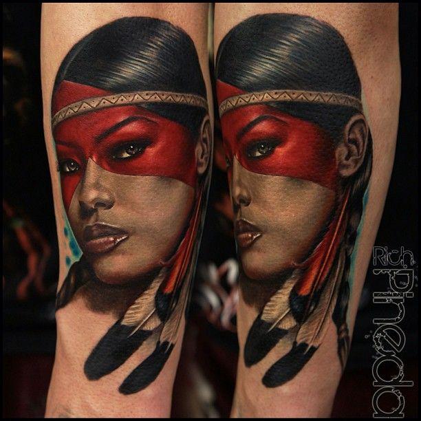 Native american female tattoos tattoes idea 2015 2016 for Native american woman tattoo