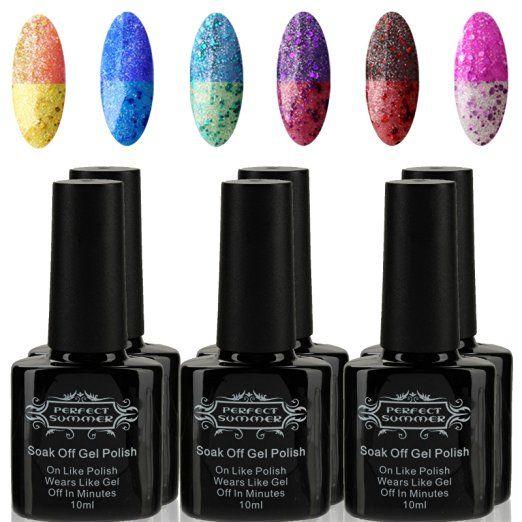 Perfect Summer Cambi Di Temperatura Smalto Per Unghie Colore Color Changing Nail Polish Gel Semipermanente Kit #002