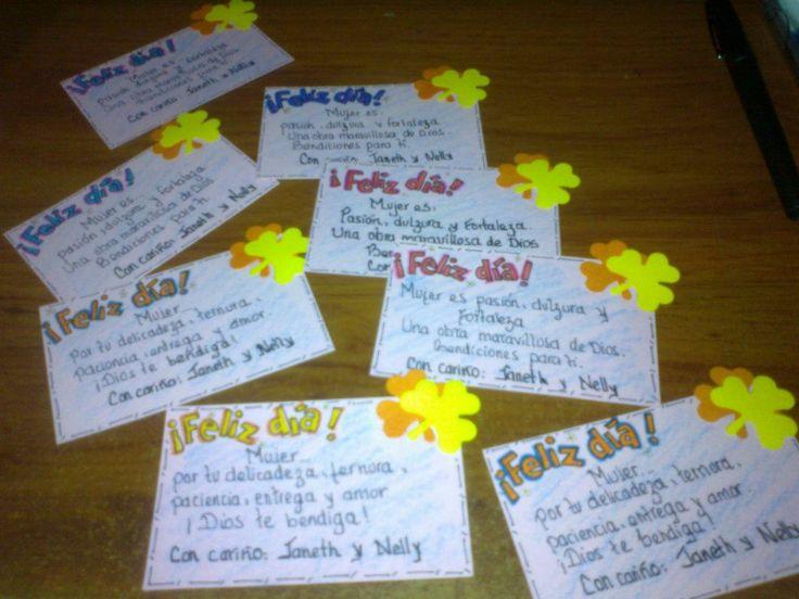 Mini tarjetas de feliz día (ocasiones especiales)