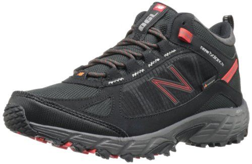 New Balance Men's MO790 Light Hiking Boot,Black/Red,8 D US. Water-resistant hiking shoe with secure ghillie lacing and thick padded collar. REVlite foam midsole. ABZORB shock-absorbing cushioning. Ndurance durable outsole. Heel-to-toe drop: 10 mm.