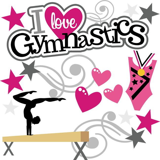 I Heart Gymnastics SVG Svg Files For Scrapbooking Cutting
