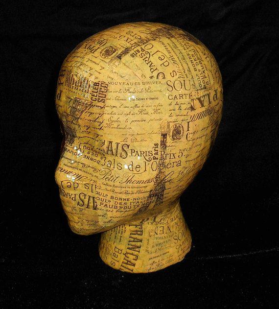 Kopfbüste mit Zeitungspapier gestalten
