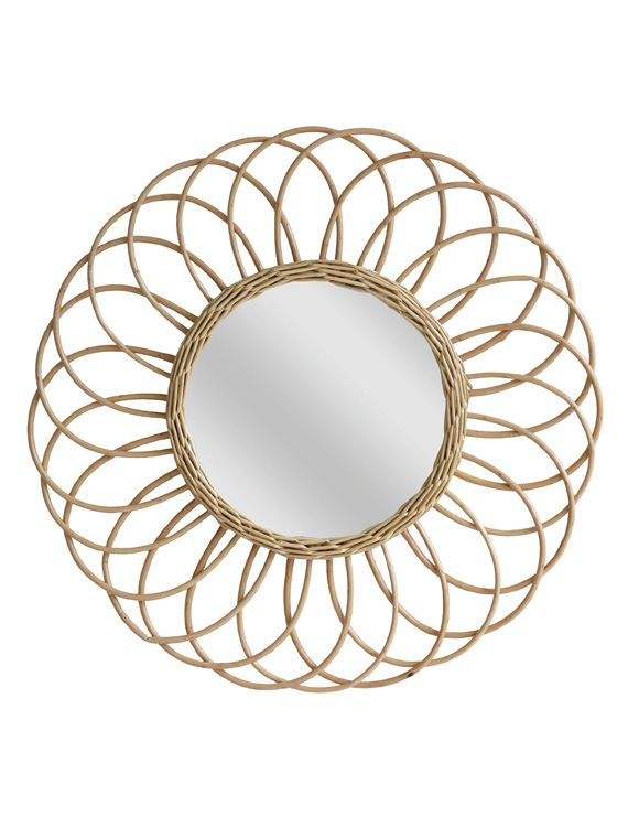 Spiegel Weidengeflecht Wandspiegel Spiegel Spiegelglas