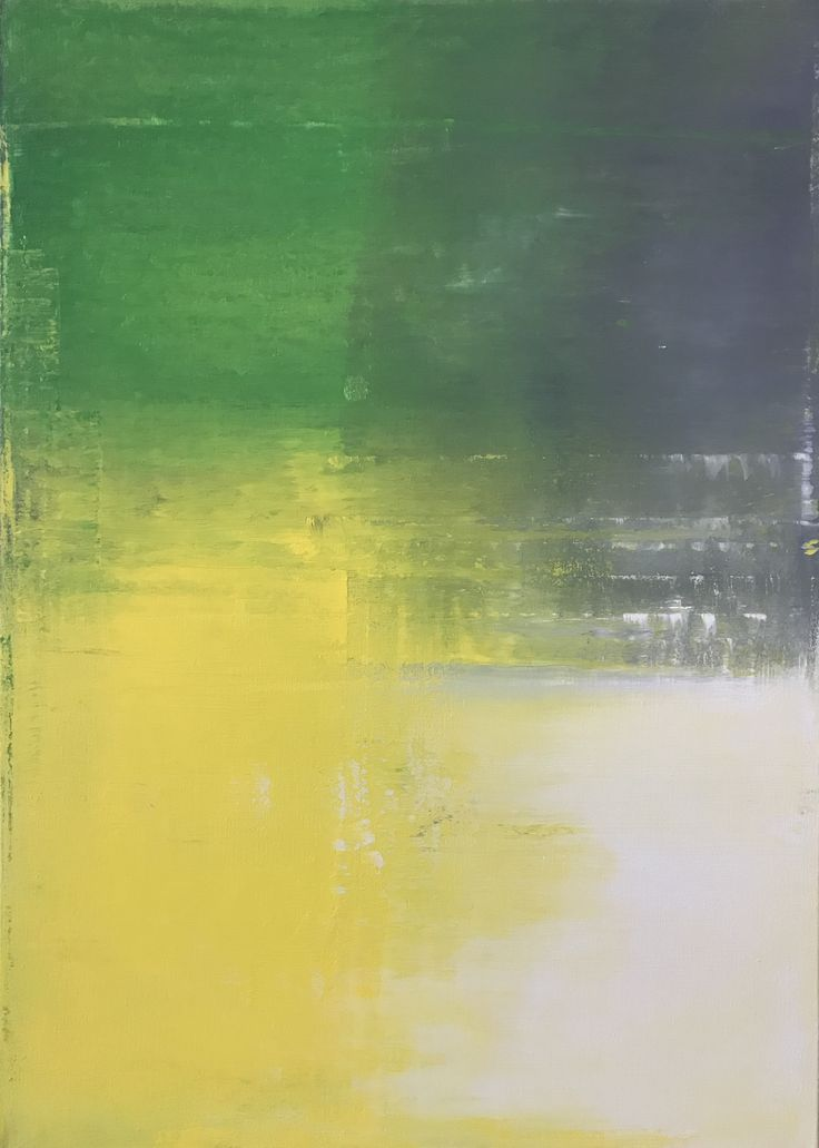 Handmade original contemporary abstract acrylic art on canvas. Painting is dominated by neon yellow, grey, green and white colours. Satin varnished. 70 H x 50 W x 1,7 cm Ready to hang. Industrial design, modern style.