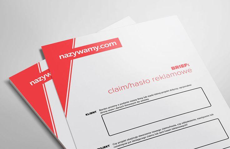 Brief na claim lub brandline