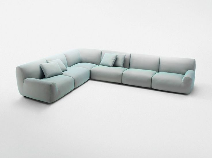 Sectional sofa with removable cover WELCOME Corner sofa Aqua Collection by Paola Lenti design Francesco Rota