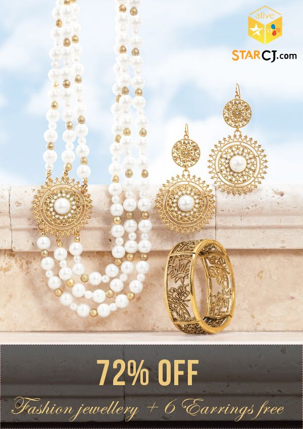 Starcj Mega Offer: Shop Fashion Jewelry on Starcj and get 72% OFF + 6 Earrings absolutely FREE.. Hurry!!! What are you waiting for? Shop online now! #FashionJewelry #OnlineShopping #Deals #Starcj