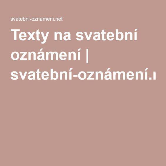 Texty na svatební oznámení | svatební-oznámení.net