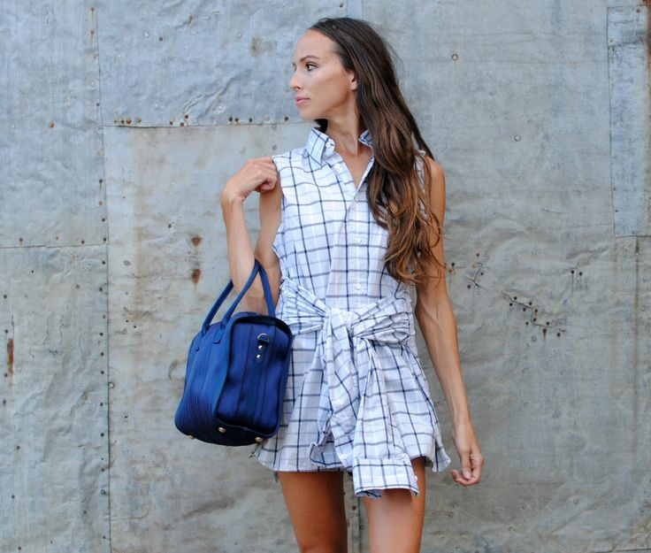 Trash to Couture DIY: Repurposed Men's Shirt into Dress. Simply use the sleeves as the waist tie. Cool and Chic