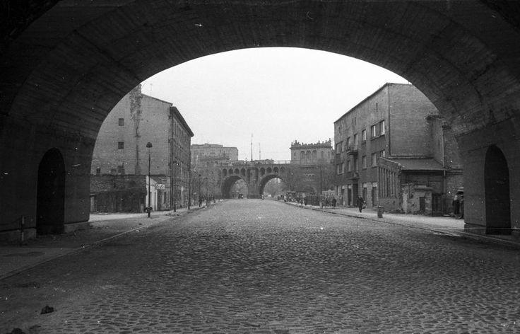 Warszawa - ulica Solec, Aleja 3 Maja i most Poniatowskiego (1962)