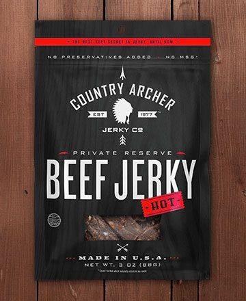 Country Archer Beef Jerky packaging