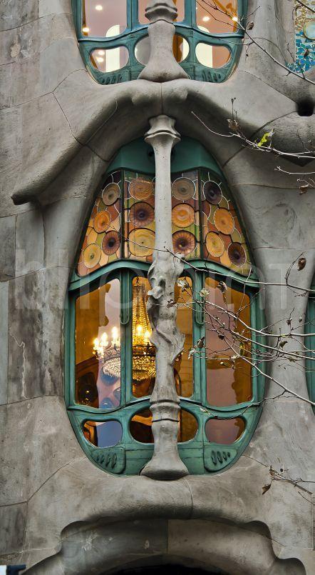 Casa Batlló de Gaudi. Barcelona. Cataluña. Spain.