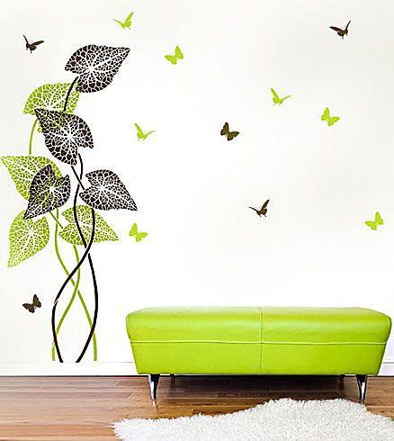 Cutting Edge Stencils - Tropical Plant Wall Stencil