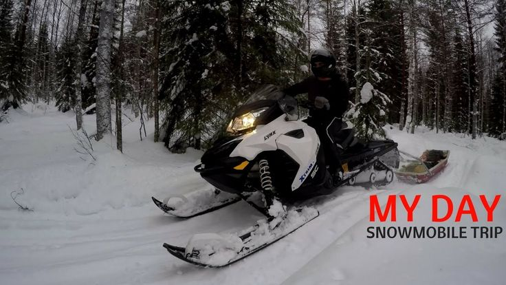 MY DAY| FINNISH NATURE IN WINTER | SNOWMOBILE TRIP
