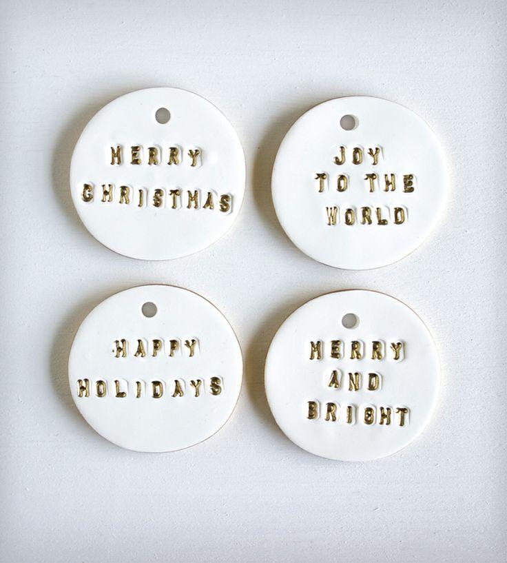Metallic Holiday Gift Tags