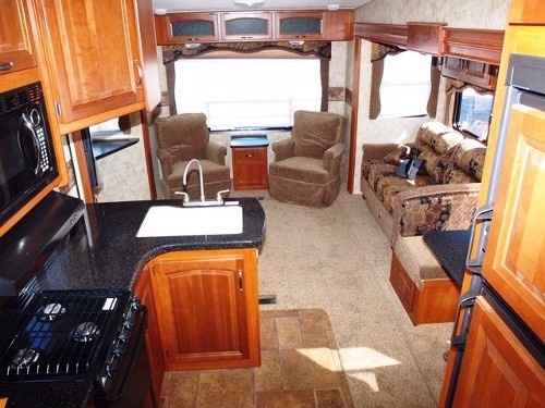 Cougar 318 SAB Fifth Wheel with triple slideout... This is our idea of camping!