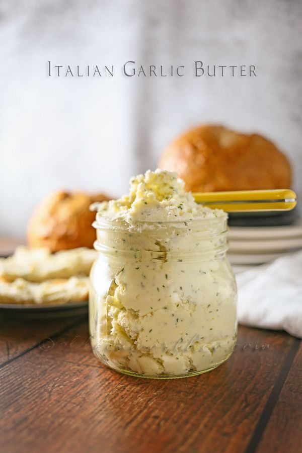 Italian Garlic Butter, the perfect addition to any dinner party, this stuff is addicting! @firefam5 #garlic #butter