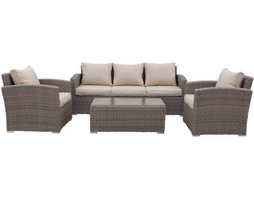 Phoenix Rattan 3 Seater Garden Sofa Set