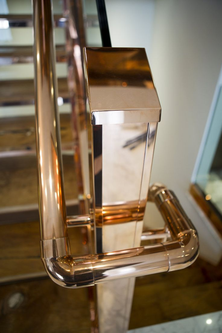 Katharine Pooley copper staircase handrail