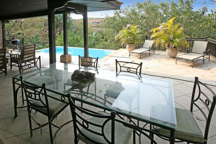 Luxury Villa, Zimbali Coastal Resort, KwaZulu Natal, South Africa. Patio. #luxuryholidaysouthafrica