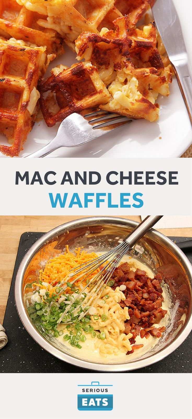 """Waffled macaroni and cheese might not rank quite as high on the list of """"things you must try before you die"""" as, say, a fresh-from-the-water oyster, or a sliver of Parmesan sliced off of a wheel that has just been opened in front of your eyes, or a bit of playful light bondage, but it's certainly good enough that it should immediately make your list of second-tier priorities."""