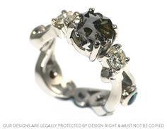 Anel de noivado de meteorito