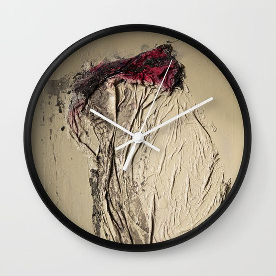 The Rose, Spray Painting on Canvas Wall Clock