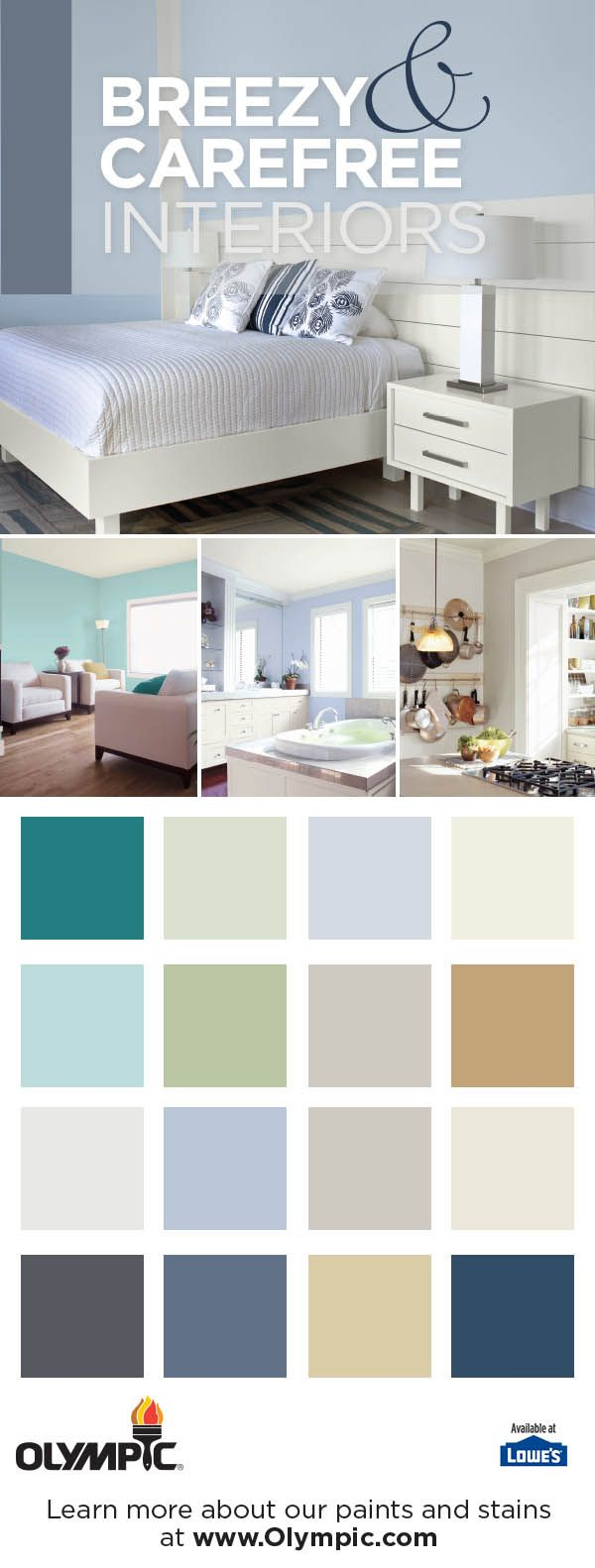 20 Best Breezy Carefree Paint Colors Images On Pinterest Olympic Paint Colors And Wall
