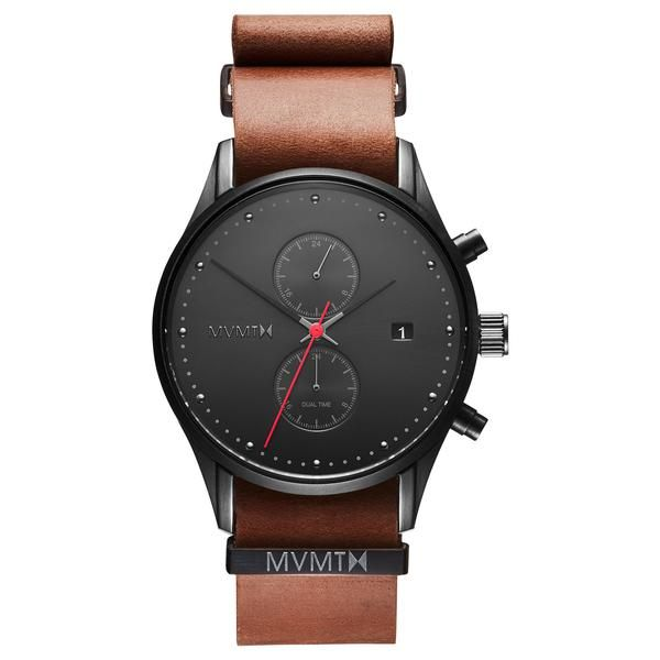 This minimal watch would be a great everyday accessory. Clean lines, beautiful brown leather band. Outback by MVMT Watches