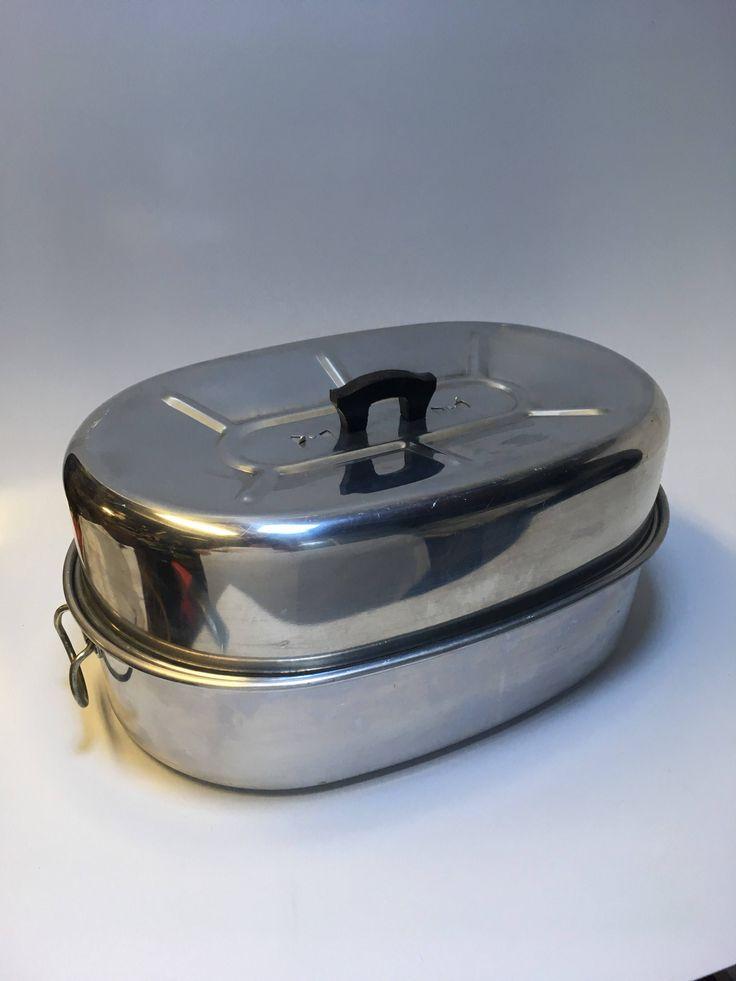 Vintage Extra Large Roasting Pan Priscilla Ware Aluminum