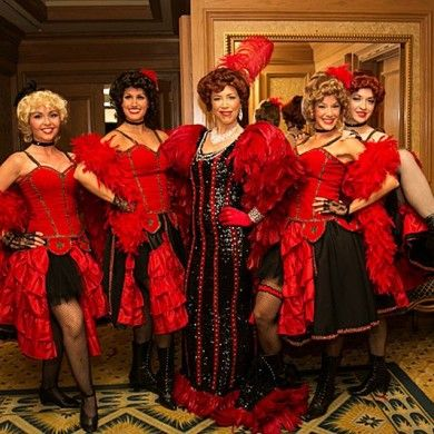 Our saloon girls and madame will bring your guests back to