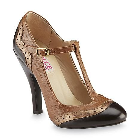 Dolce by Mojo Moxy Women's Harper Brown Oxford Pump