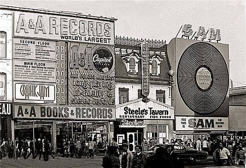 Sam the Record Man was a Canadian record store chain that, at one time, was Canada's largest music recording retailer. The chain was launched in 1937 by Sam & Sidney Sniderman, as a record department in their family's existing store, Sniderman Radio Sales & Service, at 714 College Street in Toronto. In the late 1950s a second store was opened on Yonge Street. In 1961, the new store moved north to its location at 347 Yonge Street where it became a Toronto landmark.