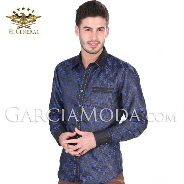 Camisa Vaquera  El General Western Wear 34757GM Royal Blue