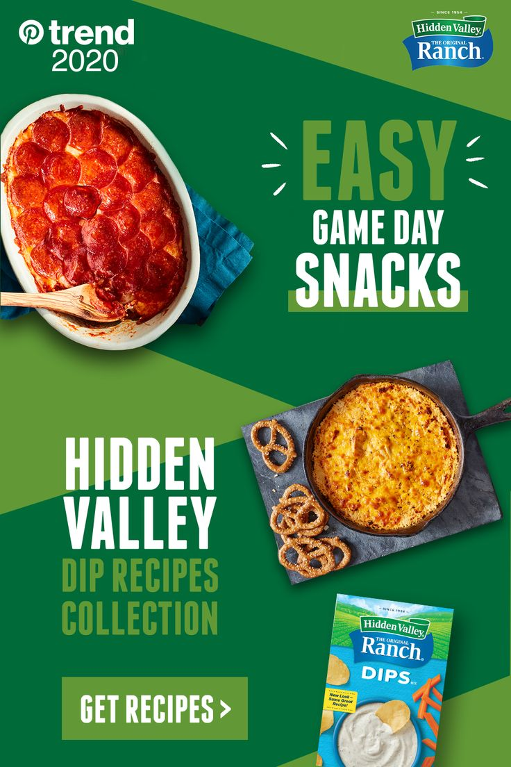 Looking for easy Game Day snack ideas? Hidden Valley Ranch dips make preparation quick, easy and super-tasty. … | Recipes, Chicken crockpot recipes, Chicken recipes